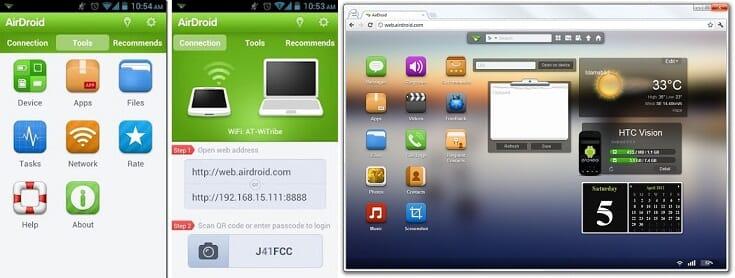 Trasferire file tra Android e PC con il WIFI grazie ad AirDroid