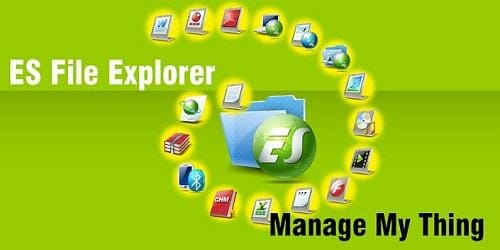 ES file explorer: create LAN between android and PC