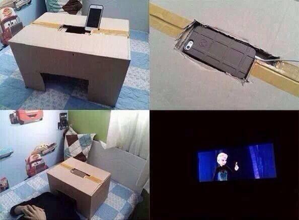 Home-made personal cinema!