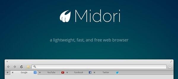 Abilitare home button con Midori browser