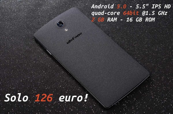 100+ V6: clone iPhone 6 plus con Android a 133€!
