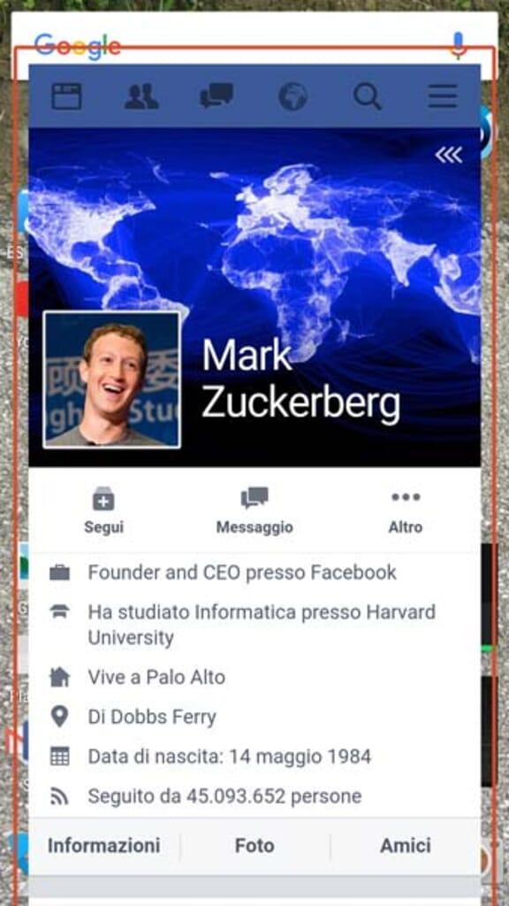 facebook mobile Metal flottante