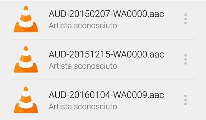Come nascondere audio Whatsapp dal riproduttore musicale Android