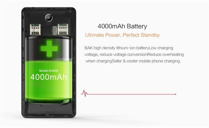OUKITEL K4000 lite con 2 GB di RAM, Android 5.1 e OTG a 72€