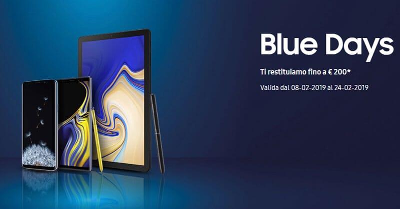 Samsung Blue Days: up to 200 € reimbursement by purchasing a Galaxy