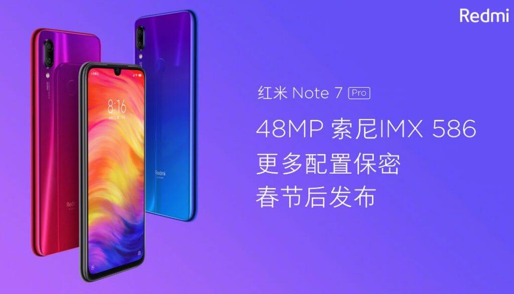 Redmi Note 7 PRO sarà lanciato in Cina nella prossima settimana