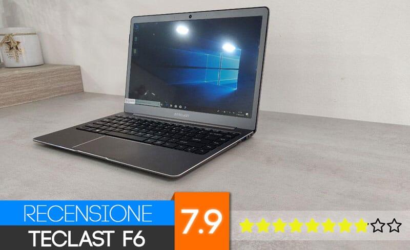 Recensione Teclast F6: il laptop best buy a meno di 250€