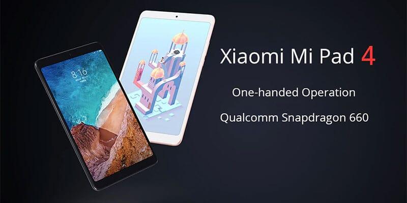 Xiaomi Mi Pad 4 4/64GB WiFi in offerta a 171€, LTE a 180€ con coupon