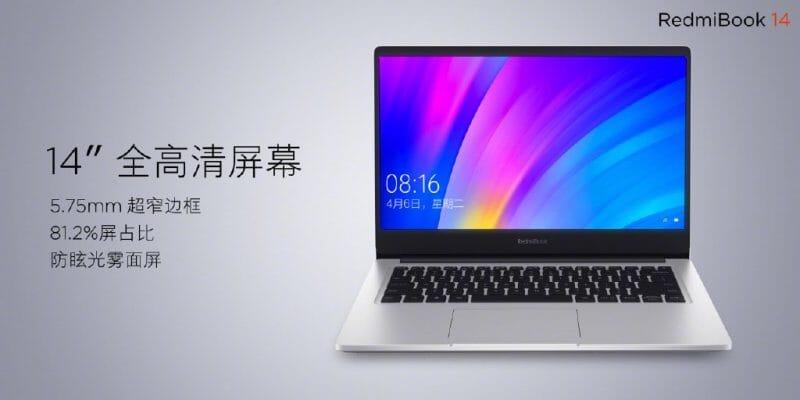 RedmiBook 14 ufficiale: Intel Core i7 di 8th Gen e GeForce MX250