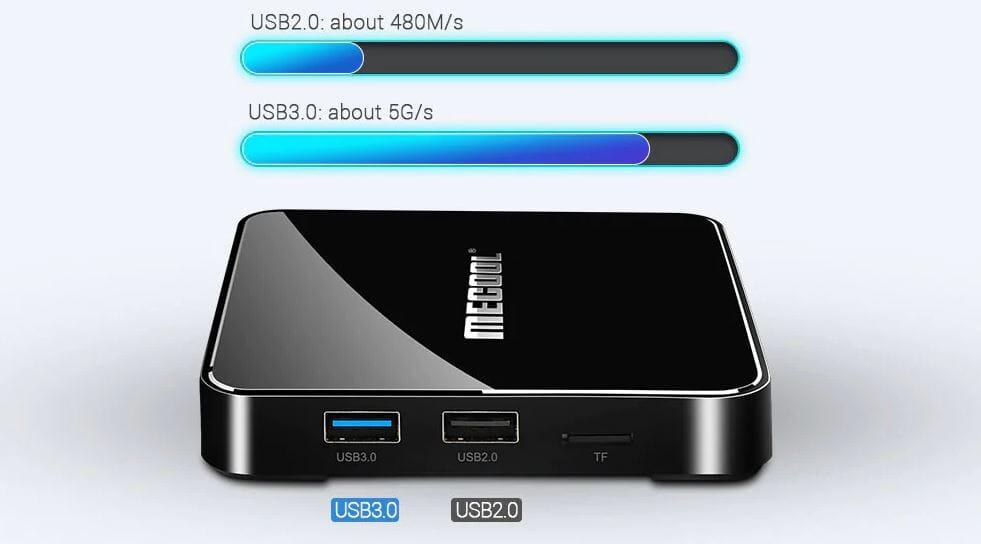 MECOOL KM3 TV Box con Controllo Vocale in offerta 62€ con coupon
