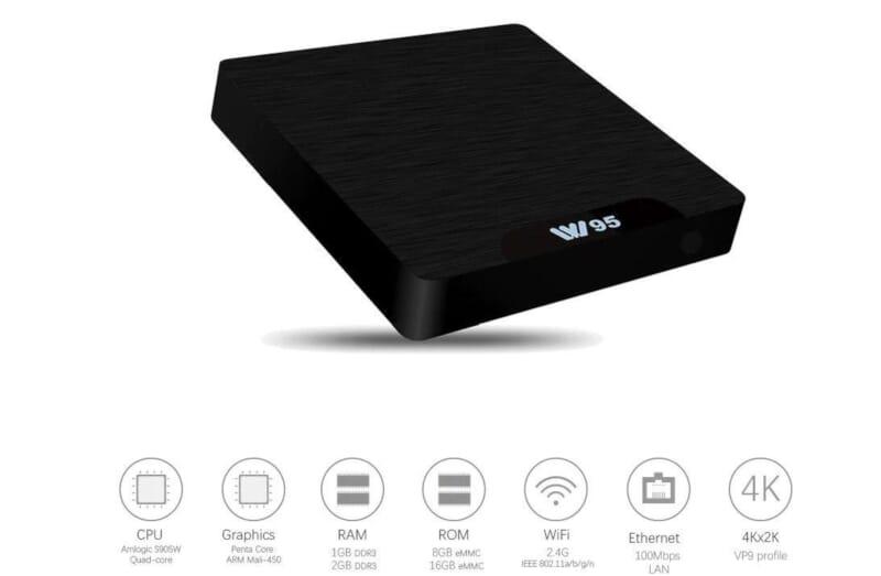 W95 Tv Box 2/16GB a 20,70€ con coupon su Gearbest