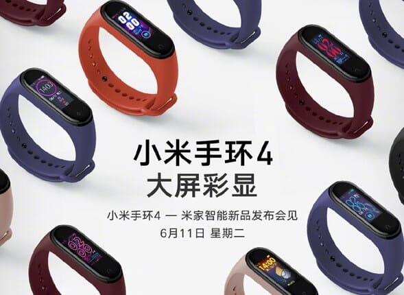 Xiaomi Mi Band 4: Poster svela le colorazioni e il nuovo display