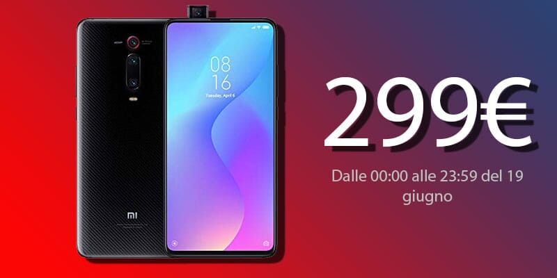 Xiaomi Mi 9T in offerta a 299€ su Amazon da questa sera alle 00:00