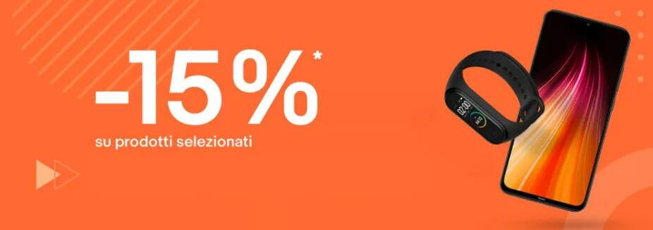 Mi Fan Festival su eBay: 15% di sconto per tanti dispositivi e smartphone Xiaomi