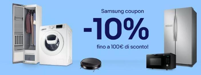 Il coupon eBay di luglio è dedicato ai dispositivi Samsung e offre 10% di sconto