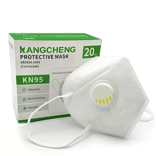 20 mascherine FFP2 KN95 con valvola a 11,9€ con coupon Gearbest